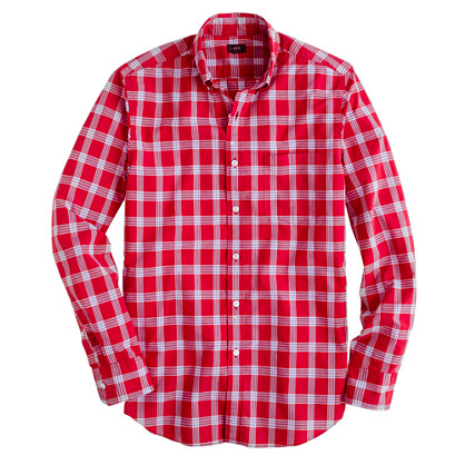 Secret Wash shirt in red check