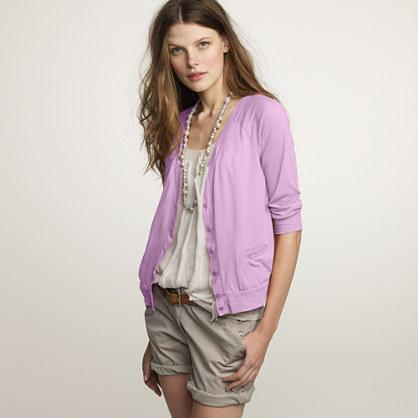 Softspun cotton cardigan