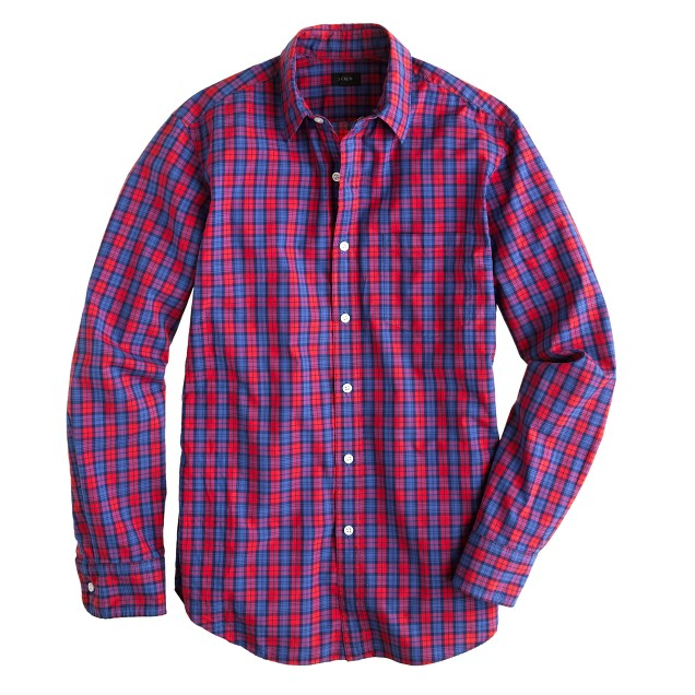 Secret Wash shirt in Hillside poppy plaid