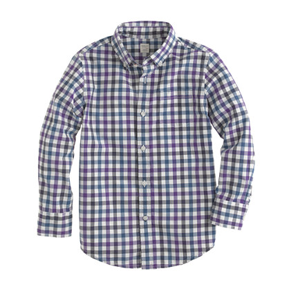 Boys' Secret Wash shirt in check