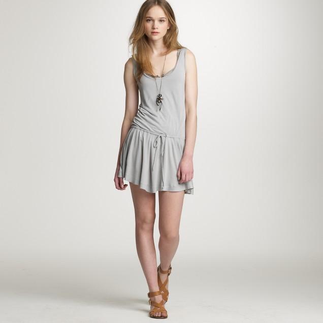 Drawstring tank dress