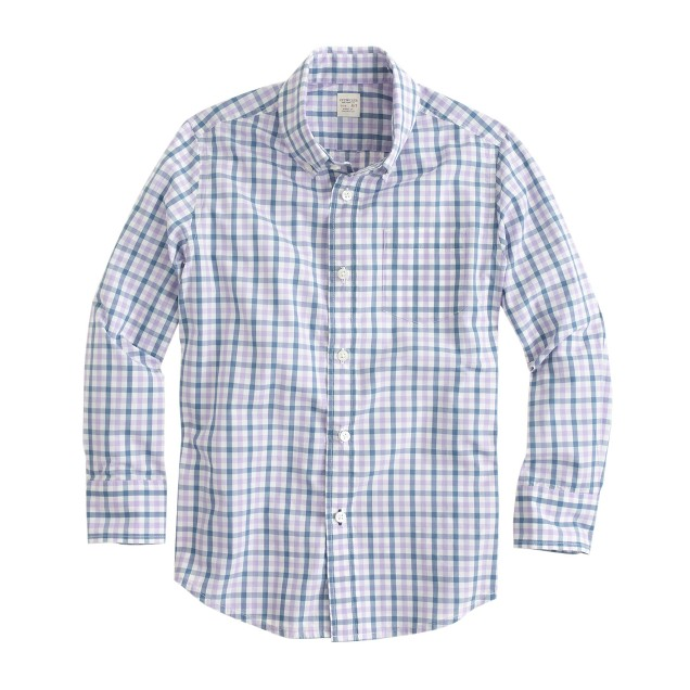 Boys' Secret Wash shirt in classic check