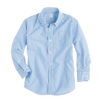 Boys' Secret Wash shirt in thin stripe