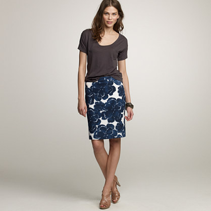 Canterbury bells pencil skirt