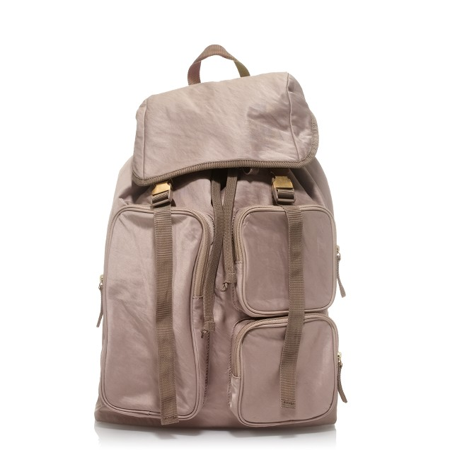 Rumpled sateen backpack