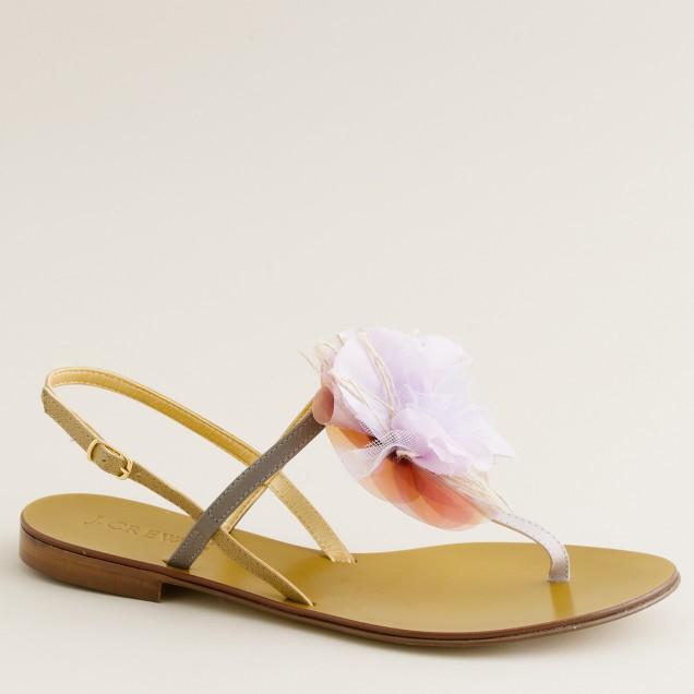 Disco-fleur sandals