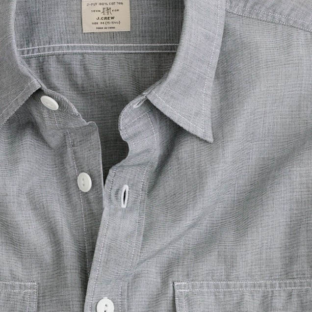 End-on-end utility shirt with pockets