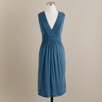 Ruched V-neck dress