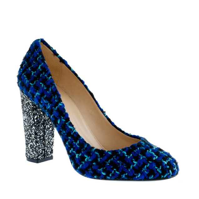 Etta glitter tweed pumps