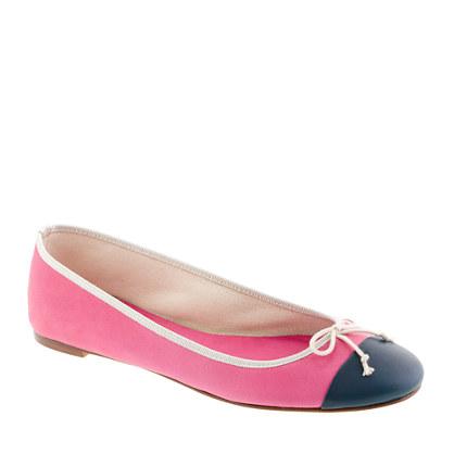 Classic cap toe ballet flats