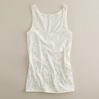 Tissue sequin spotted tank