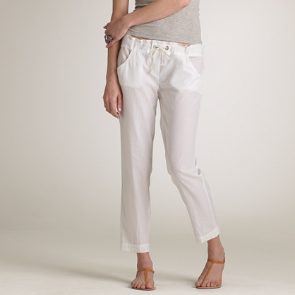Lightweight cotton beach pant