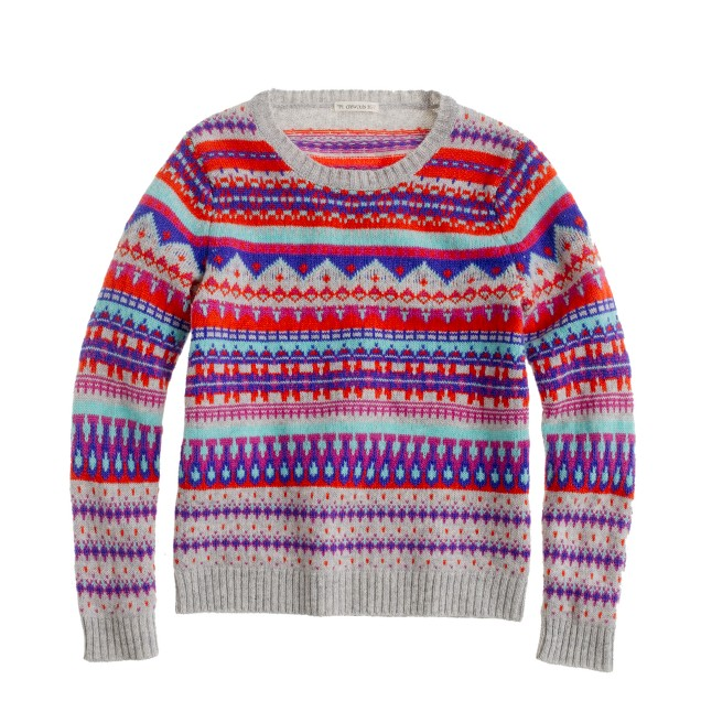 Girls' Fair Isle popover