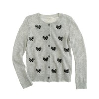 Girls' sequin bows cardigan