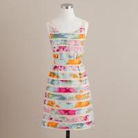 Garden ribbon shift dress