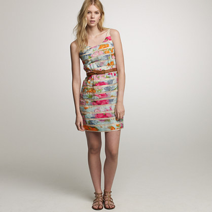 Garden ribbon shift dress