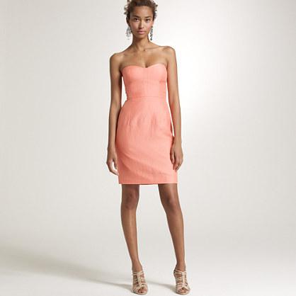 Linen-silk bustier dress