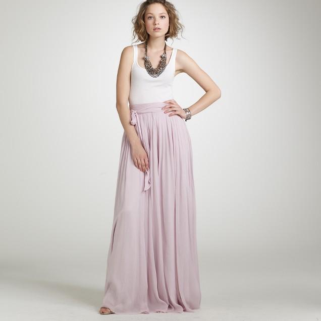 Silk chiffon Sophia skirt