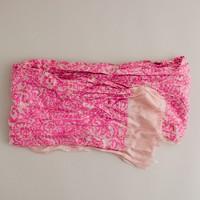 Silk neon paisley scarf
