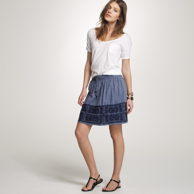 Embroidered Zafrina skirt