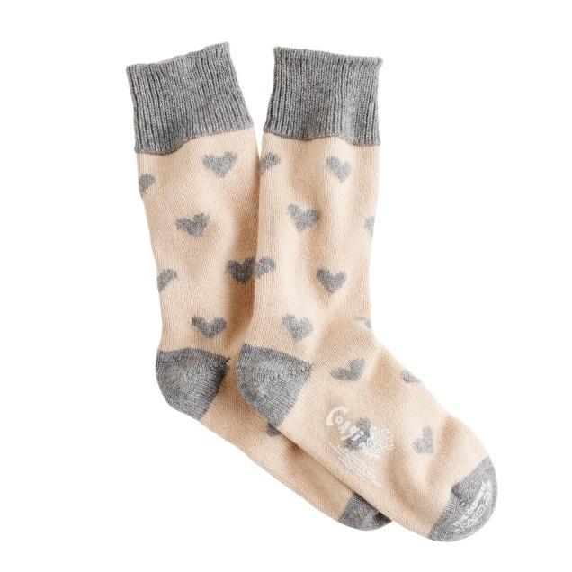 Corgi™ cashmere heart socks