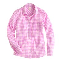 Boy shirt in neon gingham