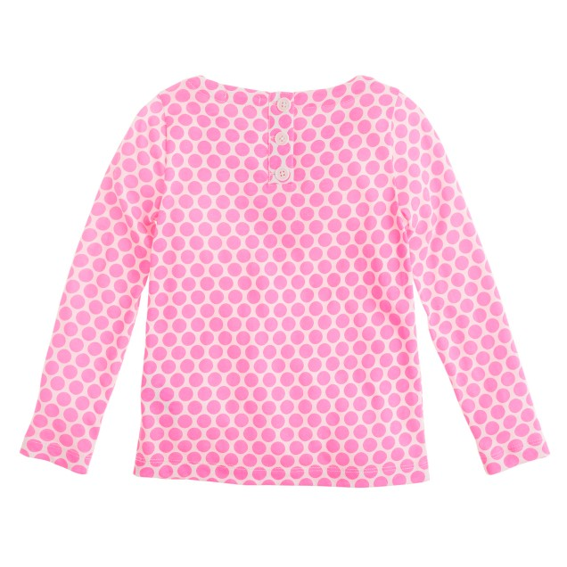 Girls' spotted sequin-cluster tee