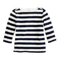 Girls' boatneck sailor tee