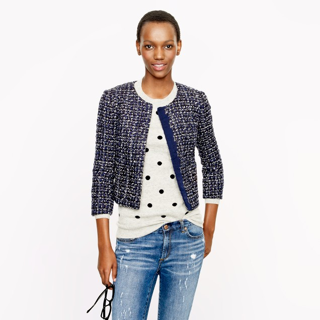 Midnight tweed jacket