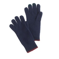 Kids' tipped cashmere gloves