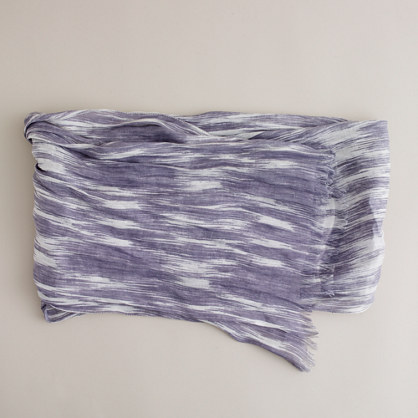 Brushed linen and silk scarf