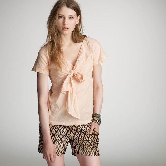 Eyelet bow blouse