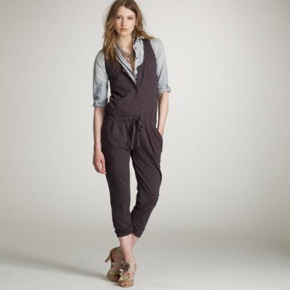 Slub cotton jumpsuit