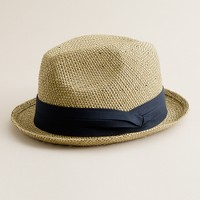 Seagrass trilby hat