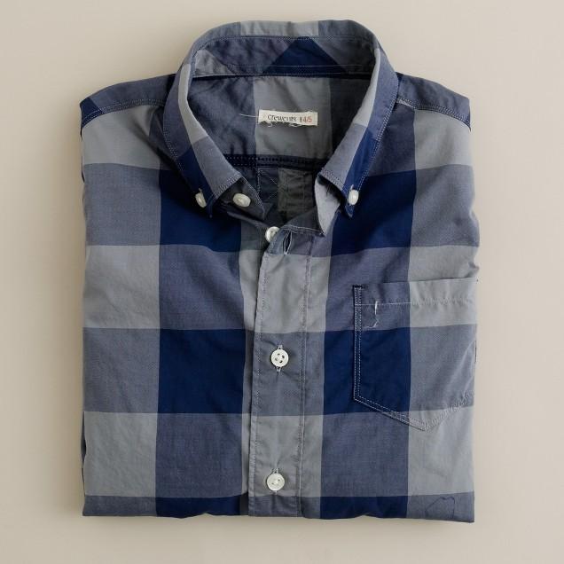 Boys' long-sleeve giant gingham shirt