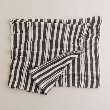 Stripe jersey scarf
