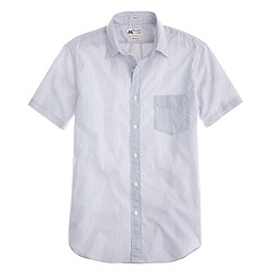 Thomas Mason® for J.Crew short-sleeve Ludlow shirt in navy stripe