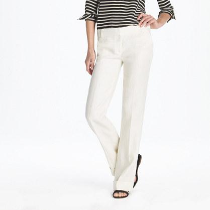 Lined café trouser in linen