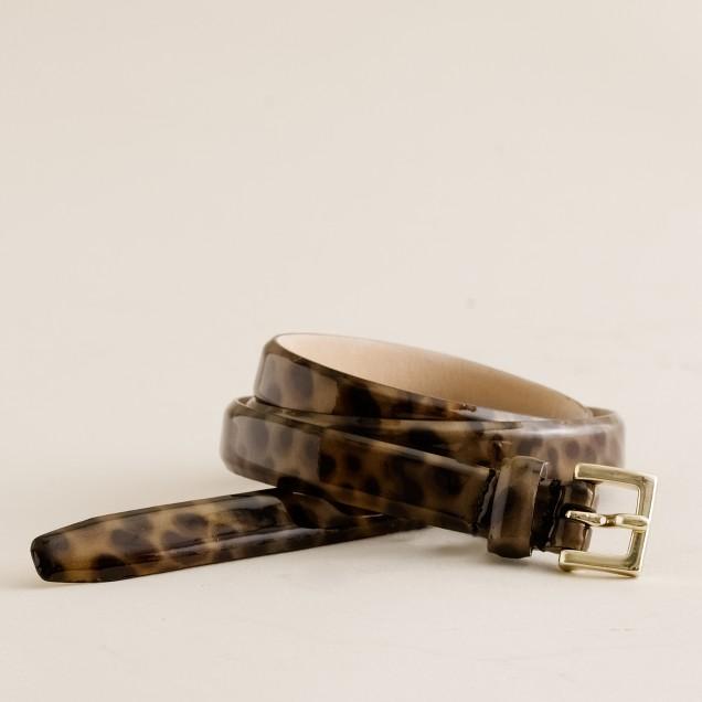Leopard patent belt
