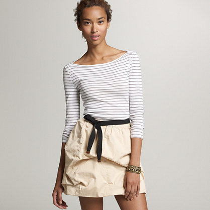 Perfect-fit stripe boatneck tee