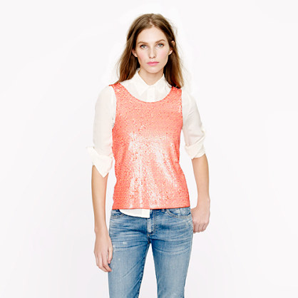 Heathered sequin tank