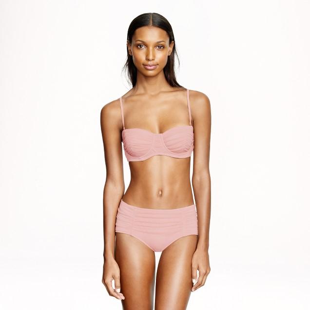 Tulle underwire bikini top