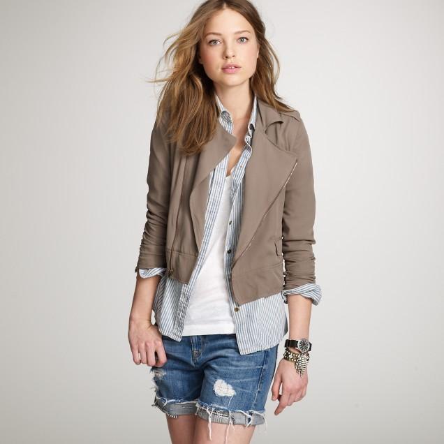 Silk motorcycle jacket