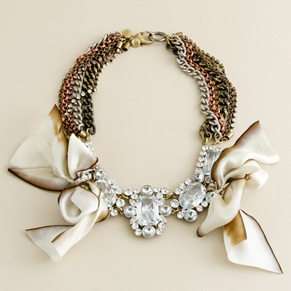 FENTON/FALLON™ for J.Crew Carrington crystal bow necklace