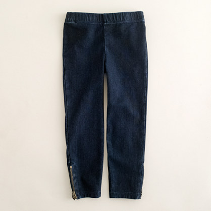 Girls' denim leggings