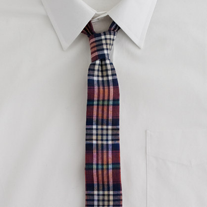 Faded madras tie