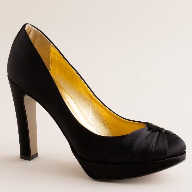 Esmé satin platform heels