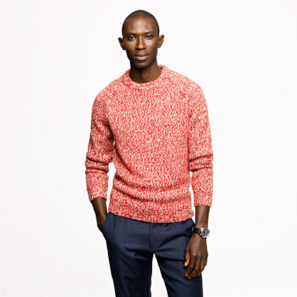 Marled wool alpaca crewneck sweater
