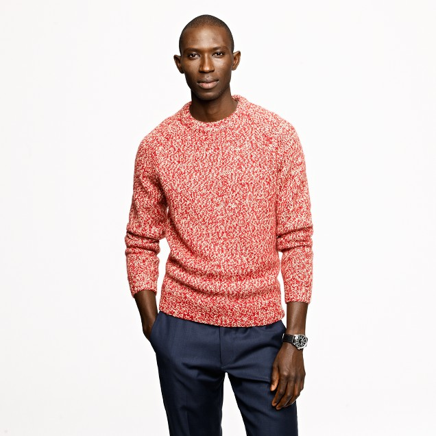 Marled wool alpaca crewneck sweater