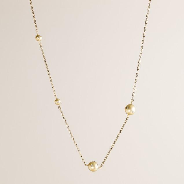 Crystal globe necklace